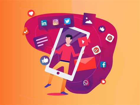 Social media pack illustration by Mr.pixels on Dribbble