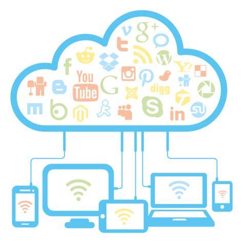 Social network cloud concept   Transparent PNG & SVG vector