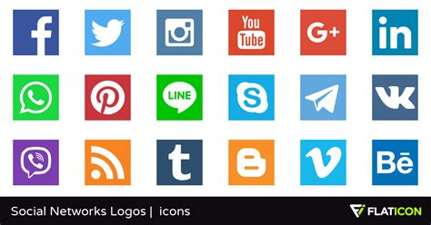 Social Networks Logos 30 free icons  SVG, EPS, PSD, PNG files