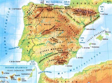 Sociales en Infantes: Lámina de España física  Unidades ...
