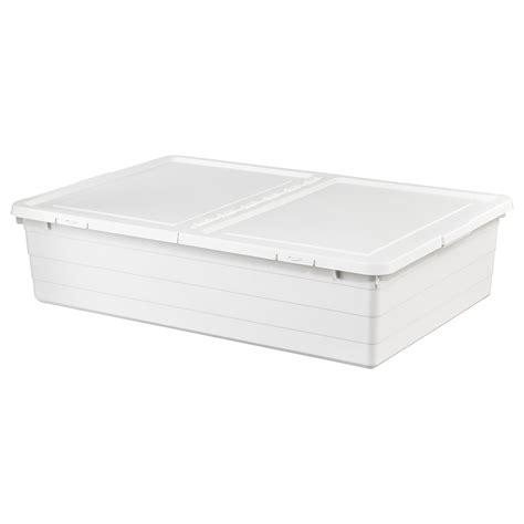 SOCKERBIT Storage box with lid   white   IKEA