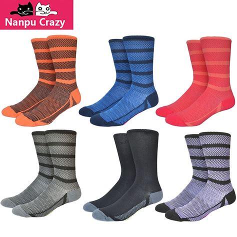Socks Striped Colorful Sock Running Compression Socks Men ...
