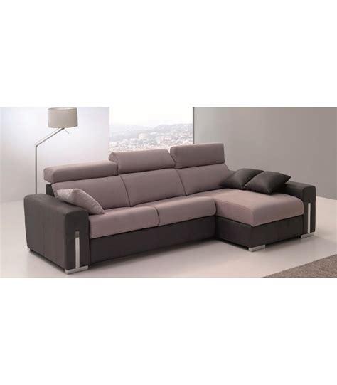Sofá cama chaiselongue sistema italiano 3 plazas Aldan