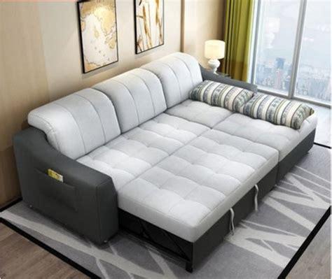 Sofá cama de tela con almacenamiento muebles de sala de ...