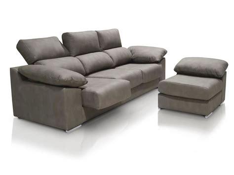 Sofá chaise longue de 3 plazas con asientos deslizantes y ...
