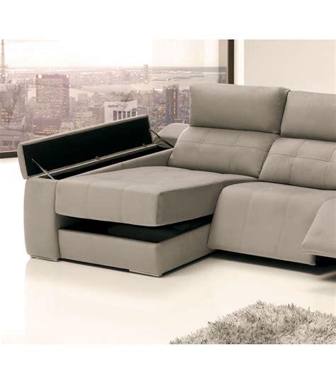 Sofá chaise longue moderno 3 plazas relax Leone