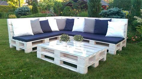 Sofa de Palets Baratos ⓿ 】» Para Terraza, Jardín, Precios 2019