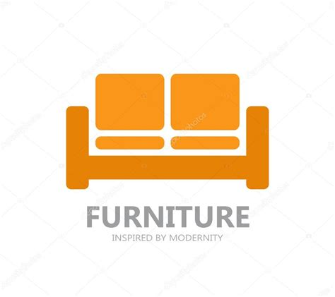 Sofa furniture logo or symbol icon — Stock Vector ...