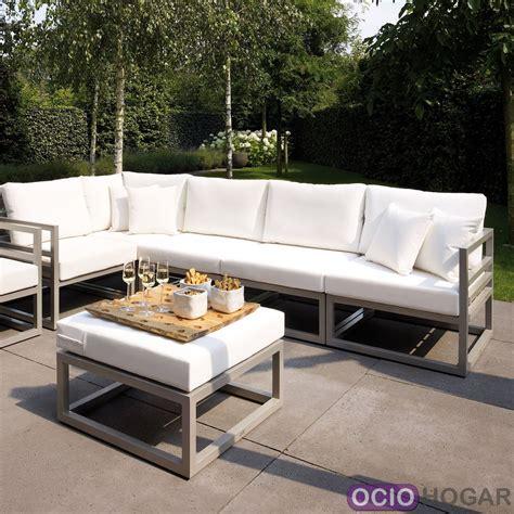 Sofá y mesa de jardín aluminio Francia Majestic Garden ...