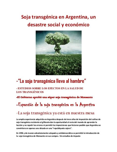 Soja transgénica en Argentina, un desastre social y económico