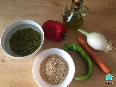 Soja verde con verduras y arroz integral   ¡Súper sano y ...