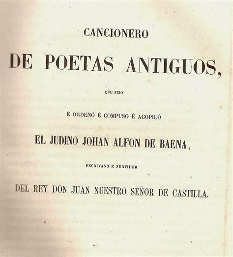SOLEDAD TENGO DE TI: El Cancionero de Baena y el amor ...
