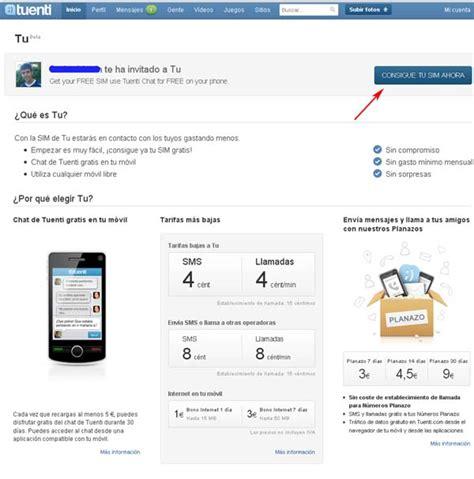 Solicitar tarjeta para móvil TU de Tuenti | Tuenti Adictos