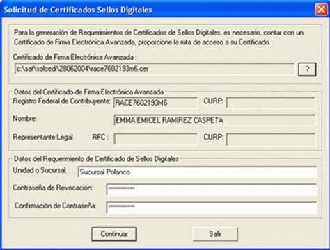 Solicitud del Certificado de Sello Digital | Factura CFDI ...