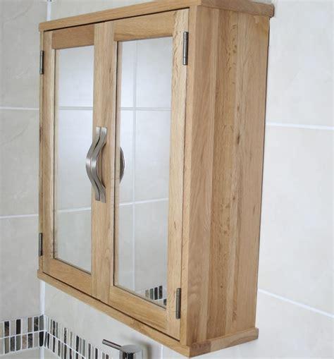 Solid Oak Wall Mounted Bathroom Cabinet 352   Bathrooms ...