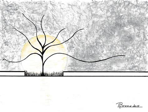 Solitude Drawing by Ronda Breen