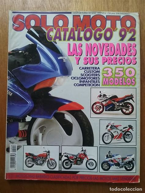 Solo moto catalogo 92 1992 numero 6 solomoto   Vendido en ...