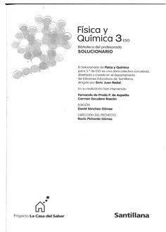 Solucionario   Fisica y Quimica   3º ESO   Santillana ...