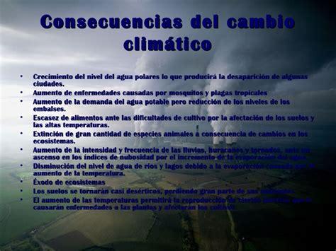 Soluciones y consecuencias del cambio climático