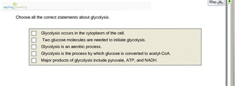 Solved: Choose All The Correct Statements About Glycolysis ...