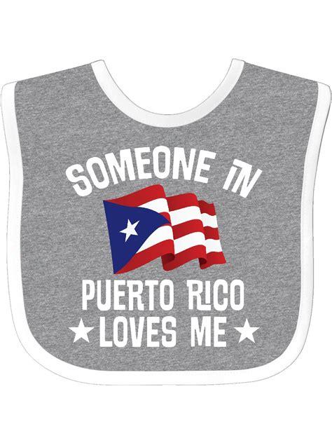 Someone in Puerto Rico Loves Me Baby Bib   Walmart.com ...