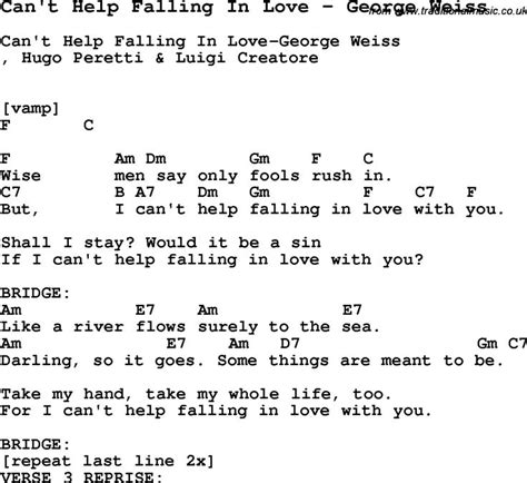 Song Can t Help Falling In Love by George Weiss, with ...