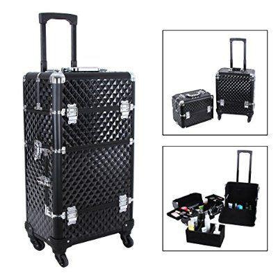 SONGMICS Alumi 2 in 1 Rolling Makeup Train Case Cosmetic ...