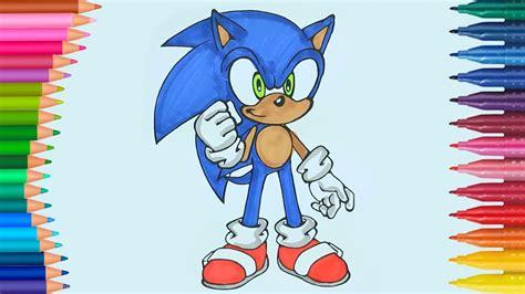 Sonic de pintar | Dibujos Para Niños | Learn Colors   YouTube