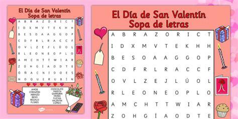 Sopa de letras de San Valentín  teacher made