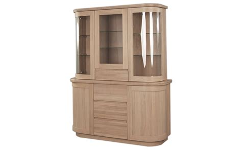 Sorento Solid Oak Sideboard with Display Cabinet by ...
