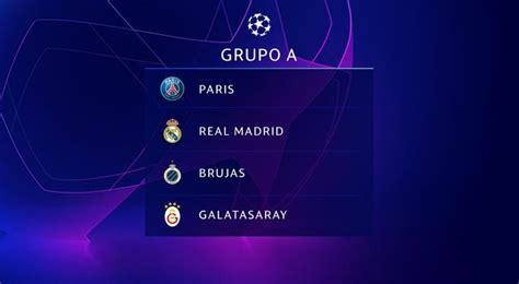 Sorteo: Así quedaron los grupos de la Champions League ...