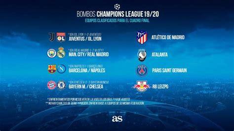 Sorteo Champions League: cuadro, partidos, cruces y ...