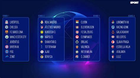 Sorteo Fase de grupos de la Champions League 2019   2020 ...