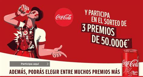 Sorteos de 50.000€ y premios con Coca Cola Music【2020】Rock ...