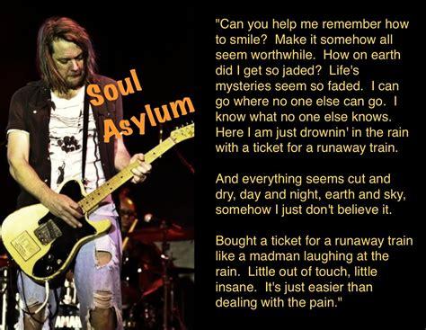 Soul Asylum   Runaway Train   Train lyrics, Soul asylum ...