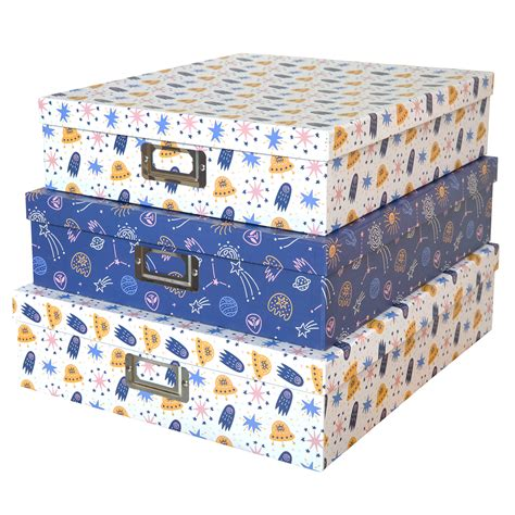 Soul & Lane Decorative Storage Cardboard Boxes Kids Room ...