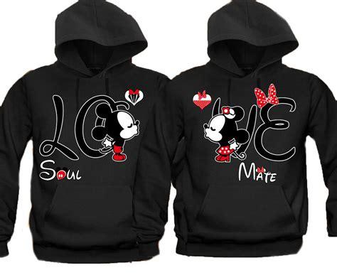Soul Mate Love Disney Couple Matching HOODIE Sweatshirt S ...