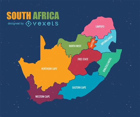 South Africa Administrative Map Vector   Vector Download