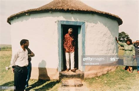 South African politician Nelson Mandela visitshis ...