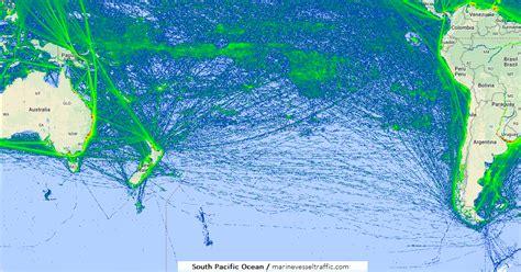 SOUTH PACIFIC OCEAN SHIP TRAFFIC TRACKER   Marine Vessel ...