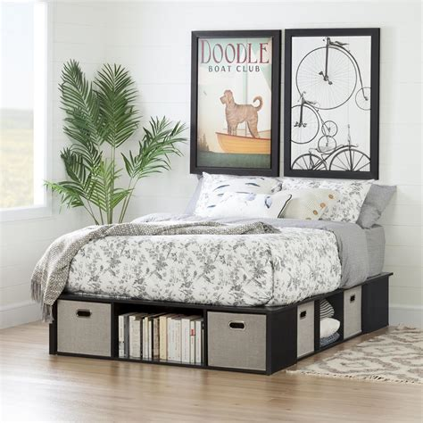 South Shore Flexible Full Wood Storage Bed 10487   The ...
