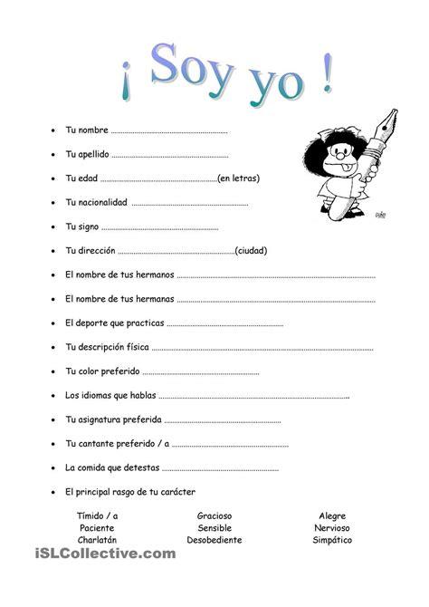 Soy yo. Cuestionario Mafalda. | Autoestima | Ejercicios de ...