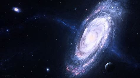 space, Space Art, Spiral Galaxy, Planet Wallpapers HD ...