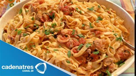 Spaghetti a la marinara / receta de comida italiana   YouTube