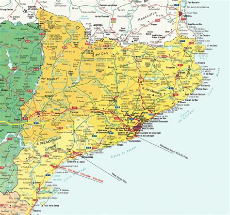 Spain Map Tourist Attractions   TravelsFinders.Com