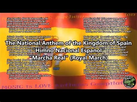 Spain National Anthem  Marcha Real  with music, vocal and ...