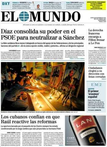 Spain Papers Review   Monday November 28 2016   Spain News ...