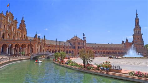 Spain, Seville city, plaza España   square with palace ...