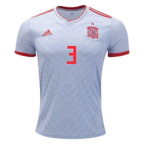 Spain World Cup #3 PIQUE Away jersey 2018