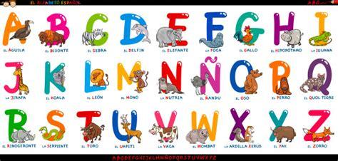 Spanish alphabet with cartoon animals set Vector | Premium ...